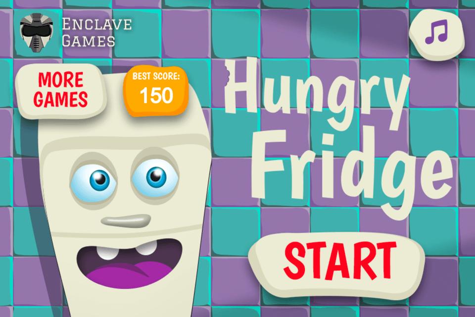 Hungry Fridge - main menu